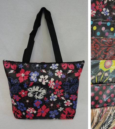 ''16''''x12.5'''' Nylon Printed TOTE BAG [Zippered]''